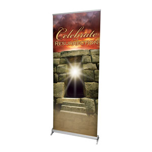 "Resurrection 2'7"" x 6'7""  Vinyl Banner"