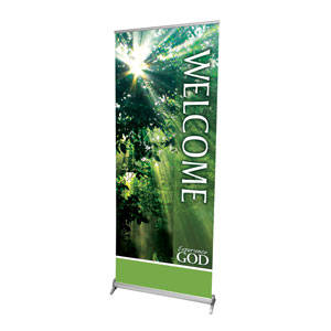 "Nature Welcome 2'7"" x 6'7""  Vinyl Banner"