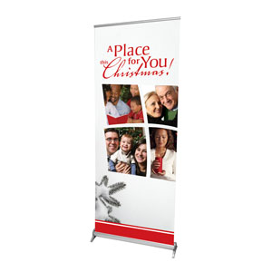 "Place for Christmas 2'7"" x 6'7""  Vinyl Banner"