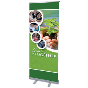 "Growing Together 2'7"" x 6'7""  Vinyl Banner"