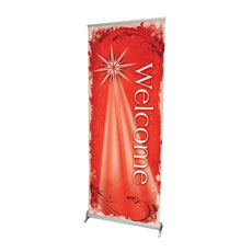 Christmas Star Red Banner