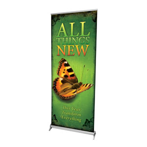 "All Things New 2'7"" x 6'7""  Vinyl Banner"