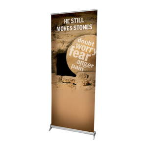 "Still Moves Stones 2'7"" x 6'7""  Vinyl Banner"