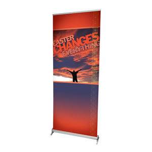 "Easter Changes Everything 2'7"" x 6'7""  Vinyl Banner"