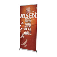 Risen Cross Banner