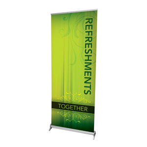 "Together Refreshments 2'7"" x 6'7""  Vinyl Banner"
