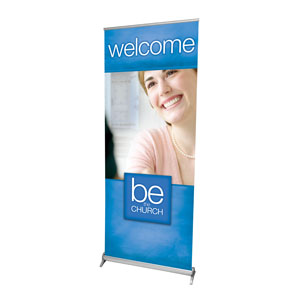 "Be the Church Welcome 2'7"" x 6'7""  Vinyl Banner"