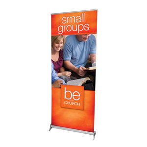 "Be the Church Small Groups 2'7"" x 6'7""  Vinyl Banner"