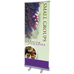 "Growing Together Small Groups 2'7"" x 6'7""  Vinyl Banner"