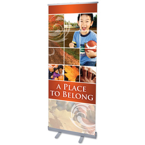 "Belong Fall 2'7"" x 6'7""  Vinyl Banner"
