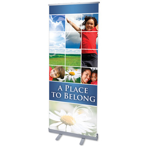 "Belong Summer 2'7"" x 6'7""  Vinyl Banner"