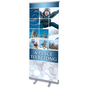 "Belong Winter 2'7"" x 6'7""  Vinyl Banner"