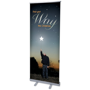 "Find Your Way 2'7"" x 6'7""  Vinyl Banner"