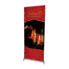 Christmas Eve Candles Banner