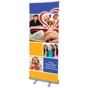 "Love to Learn 2'7"" x 6'7""  Vinyl Banner"