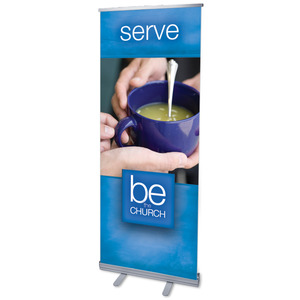 "Be The Church Serve 2'7"" x 6'7""  Vinyl Banner"