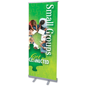 "Youre Connected Small Groups 2'7"" x 6'7""  Vinyl Banner"