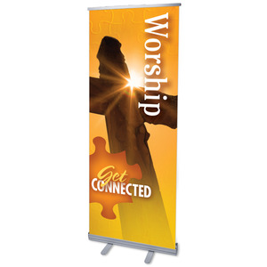 "Youre Connected Worship 2'7"" x 6'7""  Vinyl Banner"