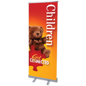"Youre Connected Children 2'7"" x 6'7""  Vinyl Banner"