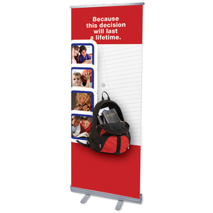 "Backpack 2'7"" x 6'7""  Vinyl Banner"