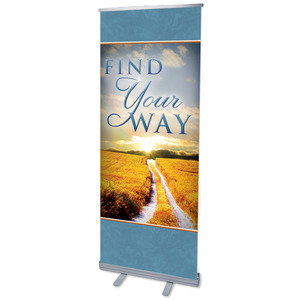 "Find Your Way Field 2'7"" x 6'7""  Vinyl Banner"