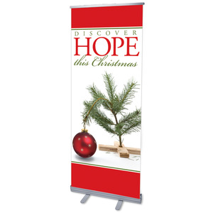 "Hope Christmas Tree 2'7"" x 6'7""  Vinyl Banner"
