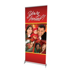 Christmas Invited Bow Banner