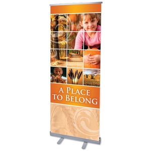 "Belong Pumpkin 2'7"" x 6'7""  Vinyl Banner"