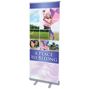 "Belong Kite 2'7"" x 6'7""  Vinyl Banner"