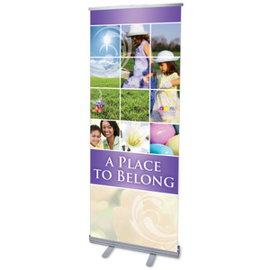 "Belong Hunt 2'7"" x 6'7""  Vinyl Banner"