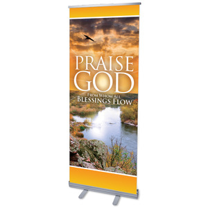 "Blessings Flow 2'7"" x 6'7""  Vinyl Banner"