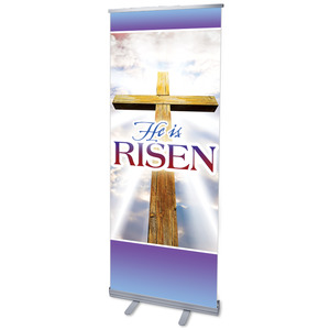 Rugged Risen Cross Banners