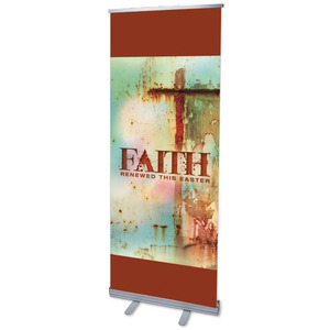 "Renewed Faith 2'7"" x 6'7""  Vinyl Banner"