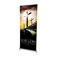 Three Crosses Road Banner