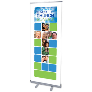"BTC Blocks 2011 2'7"" x 6'7""  Vinyl Banner"