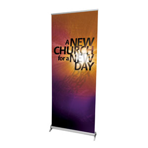 "New Church 2'7"" x 6'7""  Vinyl Banner"