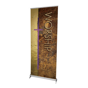 "Leather Worship 2'7"" x 6'7""  Vinyl Banner"