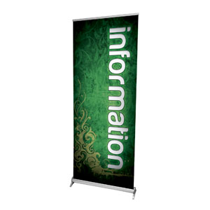 "Adornment Information 2'7"" x 6'7""  Vinyl Banner"