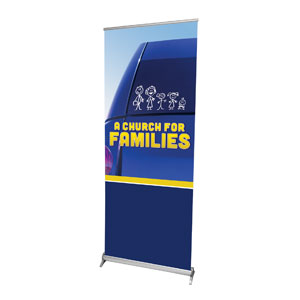 "Church for Families  2'7"" x 6'7""  Vinyl Banner"