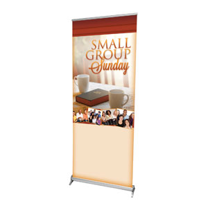 "Small Group Sunday  2'7"" x 6'7""  Vinyl Banner"