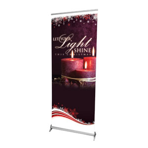 "Light Shine Christmas 2'7"" x 6'7""  Vinyl Banner"