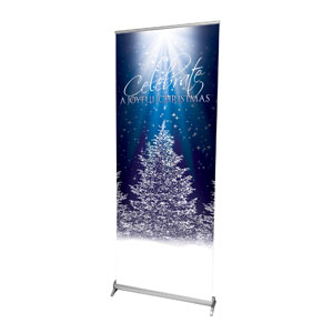 "Joy of Christmas 2'7"" x 6'7""  Vinyl Banner"