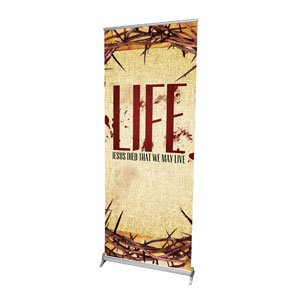 "That We May Live 2'7"" x 6'7""  Vinyl Banner"