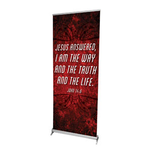 "You Belong Jn 14:6 2'7"" x 6'7""  Vinyl Banner"