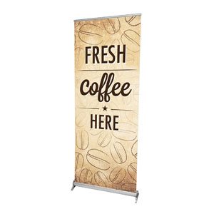 "Coffee Retro 2'7"" x 6'7""  Vinyl Banner"