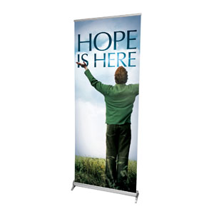 "Hope Is Here 2'7"" x 6'7""  Vinyl Banner"