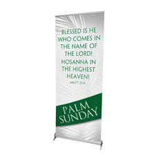 Easter Ribbon Palm Banner
