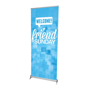 "Friend Sunday Welcome 2'7"" x 6'7""  Vinyl Banner"