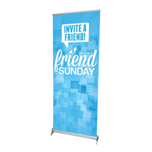 "Friend Sunday Invite 2'7"" x 6'7""  Vinyl Banner"