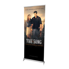 The Song Roll Up Banner